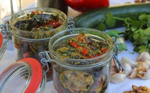 Маринованные овощи гриль по-грузински
