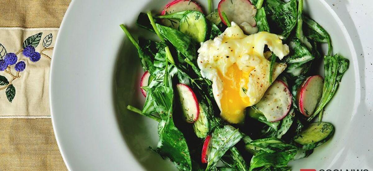 CoolWNS · Салат из черемши с яйцом пашот