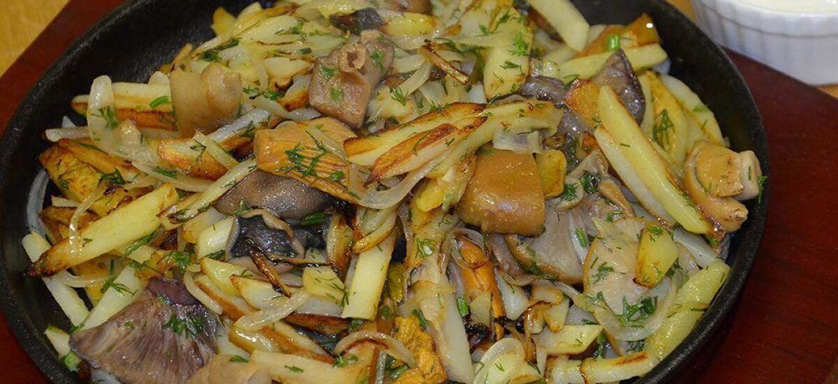 CoolWNS · Жареная картошка с солеными грибами