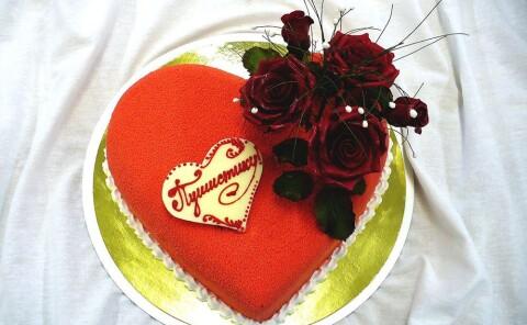 Романтичный торт «Сердце»