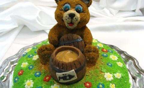 Торт «Мишка на поляне»