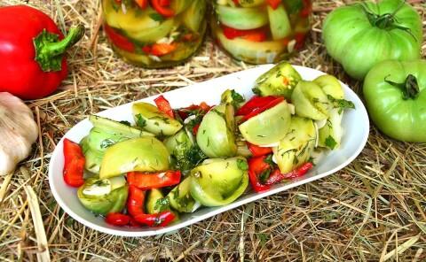 Маринованные зеленые помидоры на зиму