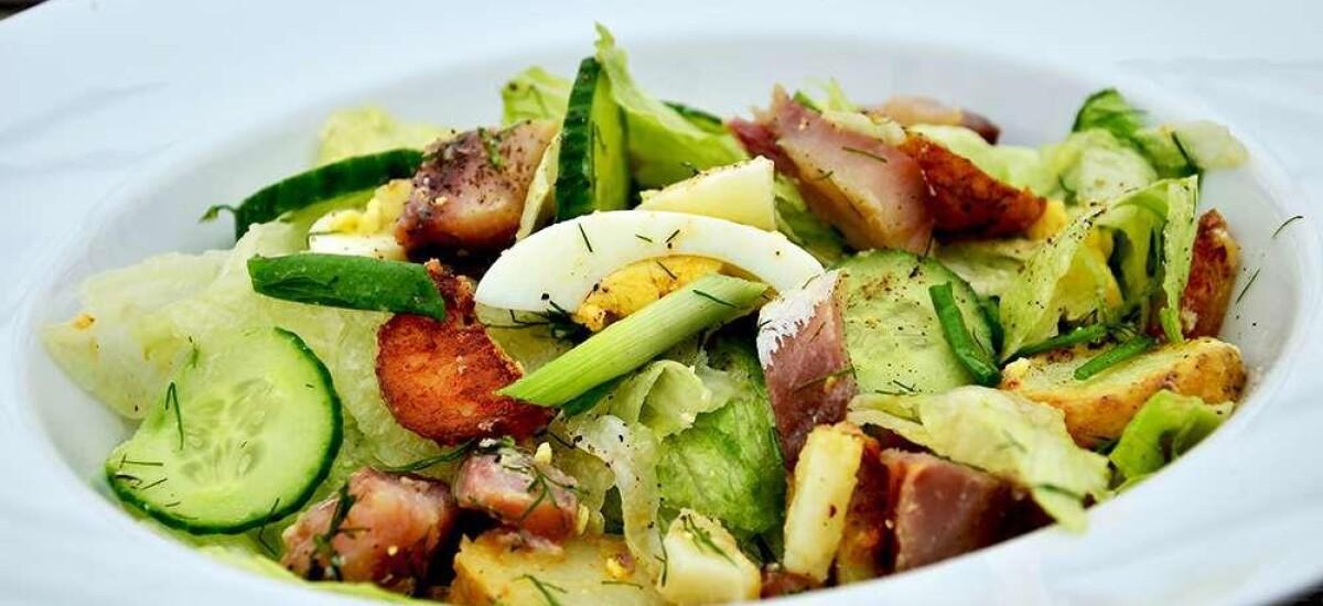 CoolWNS · Салат с копченой скумбрией и картофелем