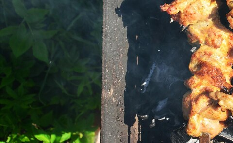 Куриный шашлык из филе бедра
