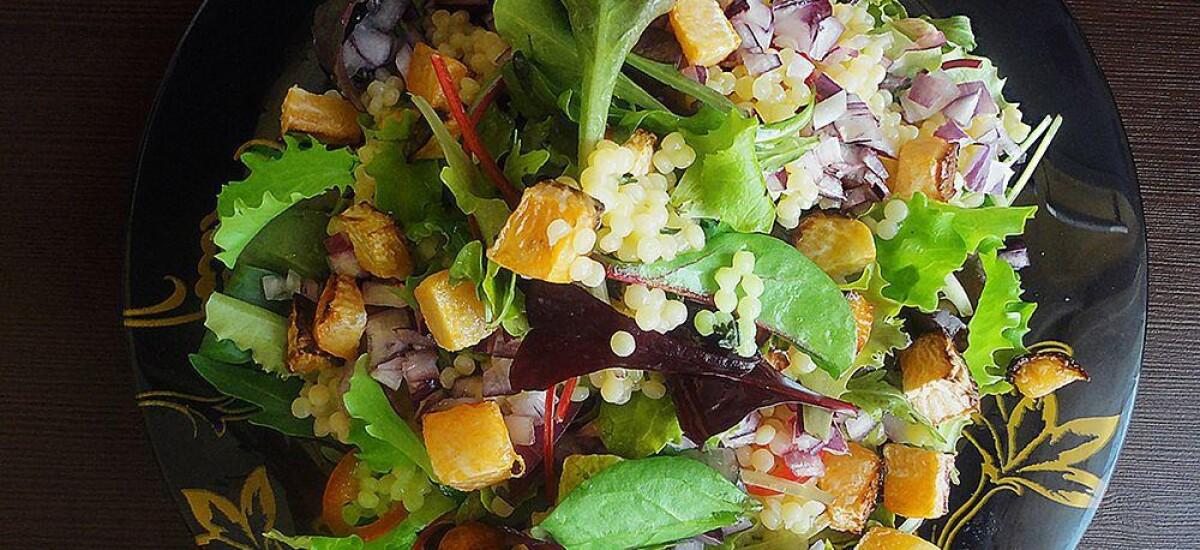 CoolWNS · Салат с печеной репой и кус-кусом