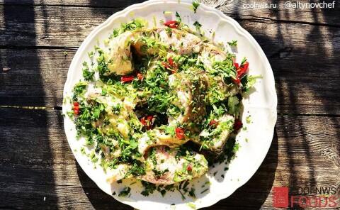 Рыба в соусе киндзмари