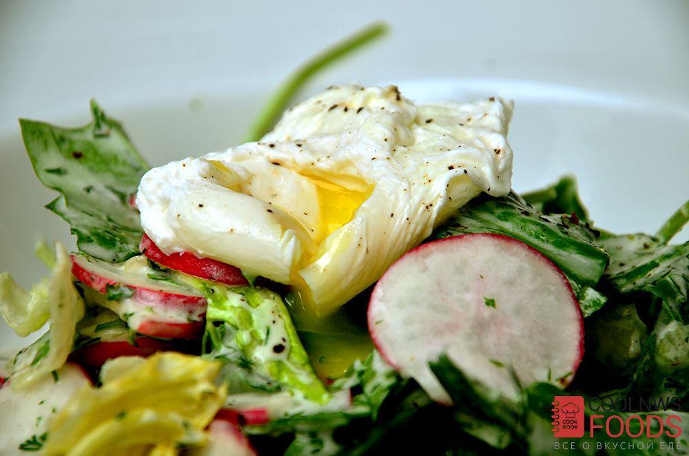 выкладываем пашот на салат