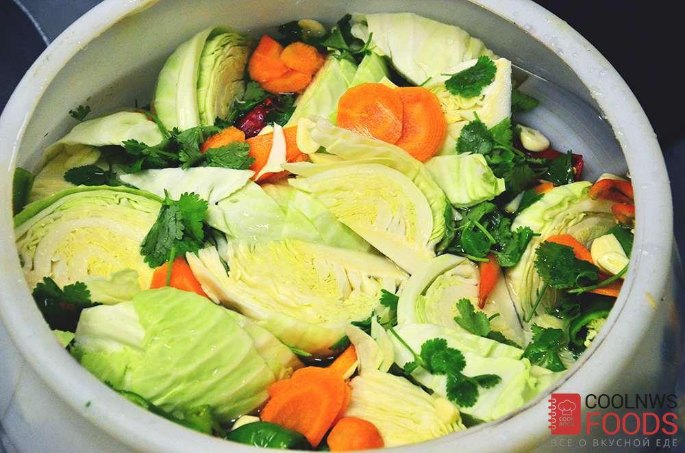 Квашеная капуста кусками рецепт с фото