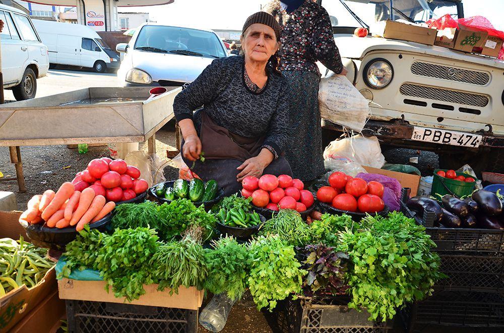 на рынке в г. Телави