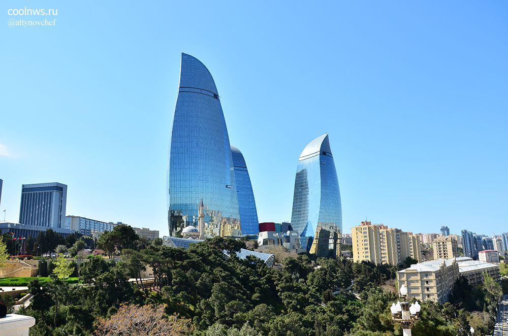 Флейм Тауэрс, знаменитые башни-небоскребы Баку,