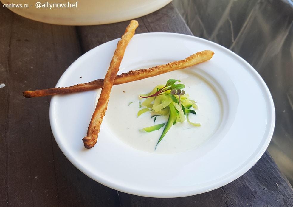 сливочный суп рокфор