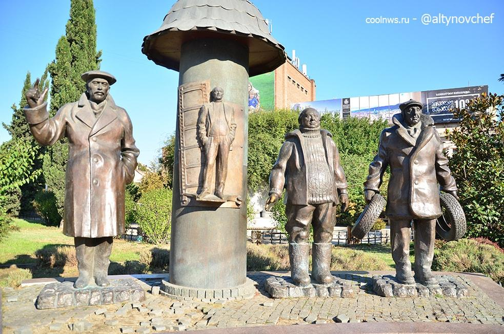 "Памятник ""Мимино"" возле м. Авлабари"